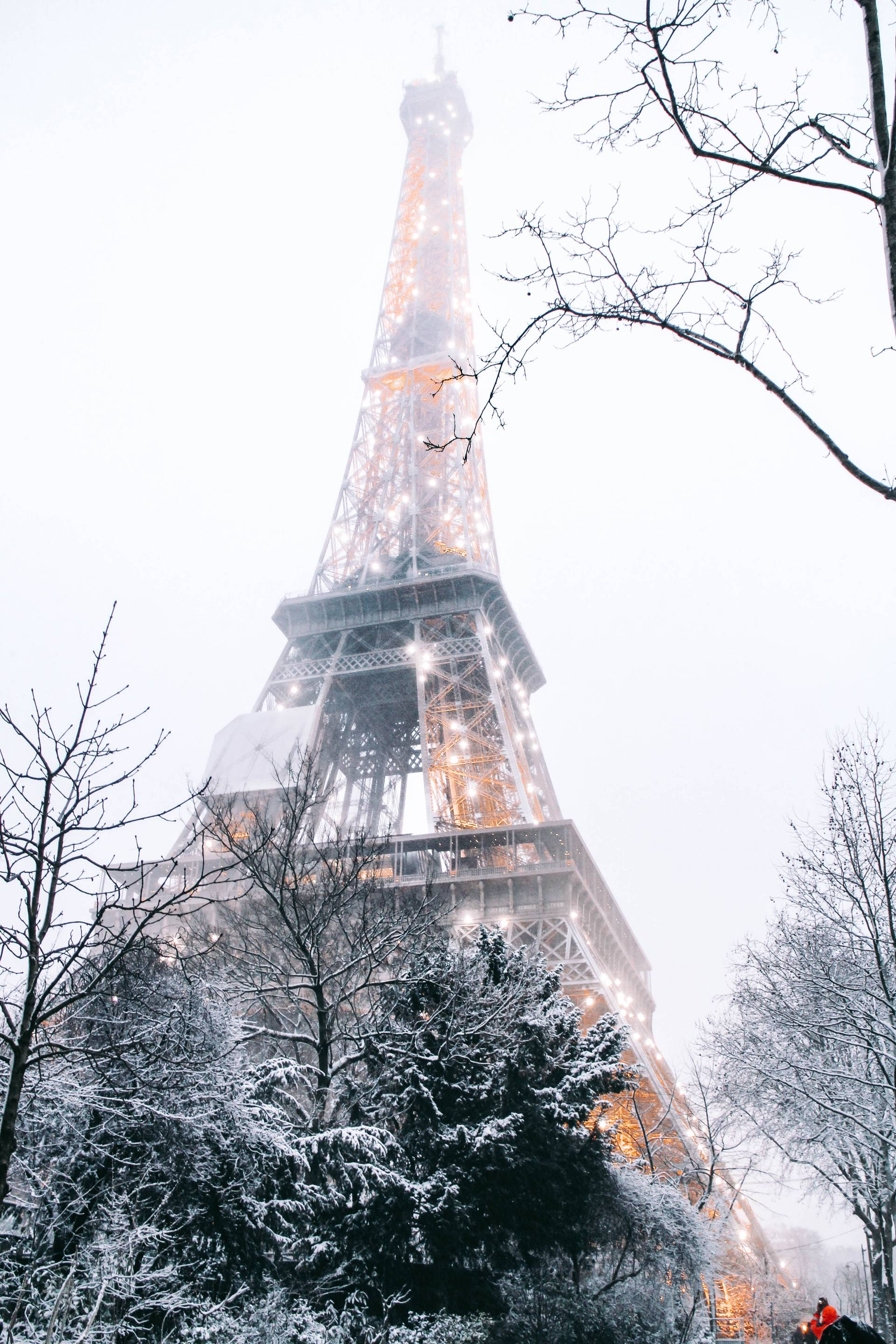 Snowy Paris IPhone Wallpaper