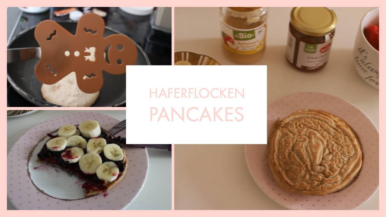 Pancakes aus Haferflocken (vegan, lecker & gesund)